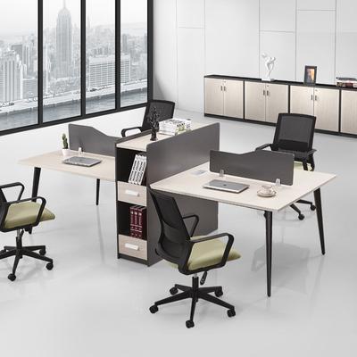 办公桌4人位高档办公家具简约现代四人位职员桌椅组合2人位员工桌