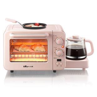 小熊早餐机家用多士炉小烤箱热牛奶三合一早餐神器多功能烤面包机