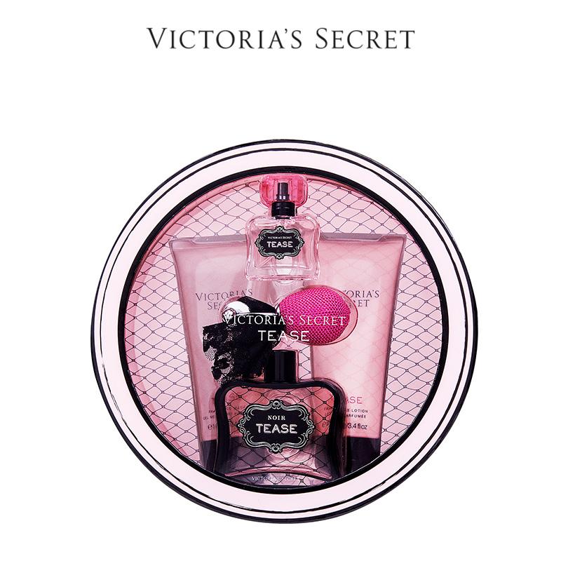 维多利亚的秘密 黑色诱惑香水系列圆形中号礼盒|4件套 11089328