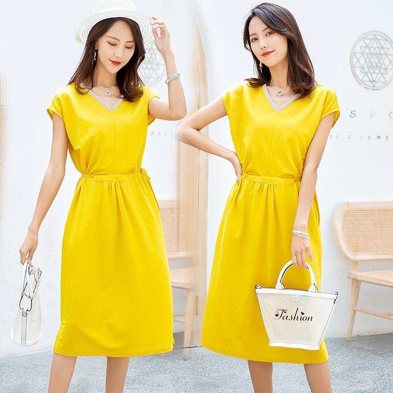 時尚氣質無袖V領連衣裙