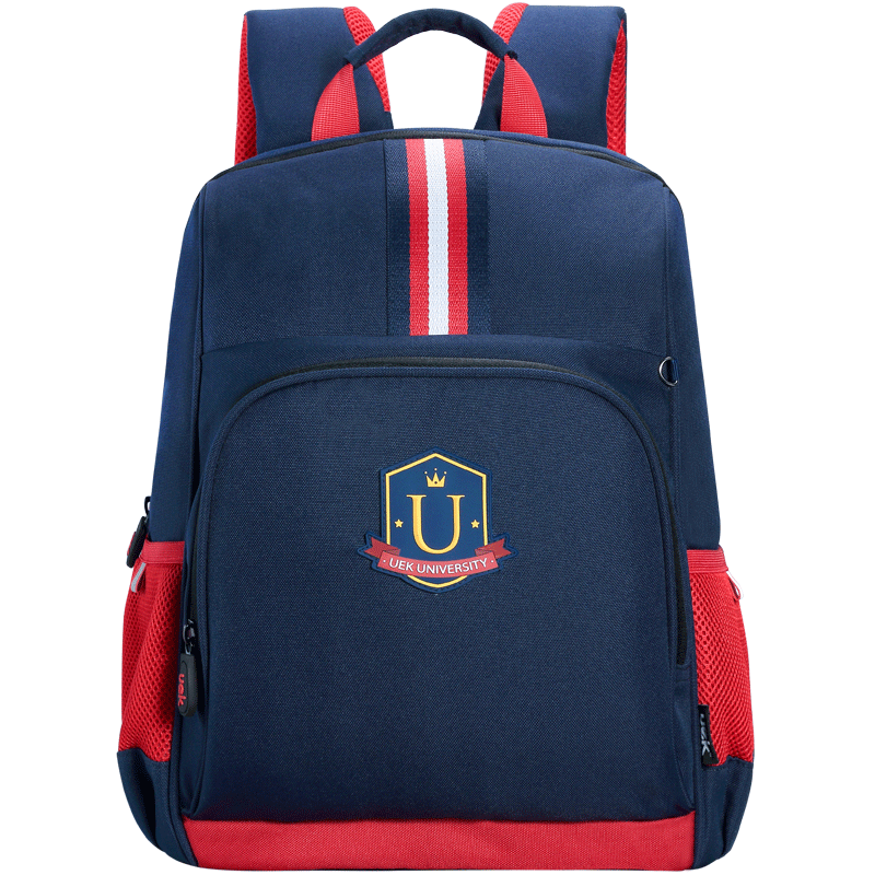 Uek primary school schoolbag boy girl 1-3-6 grade ridge backpack 6-12 years old lightweight children's bag