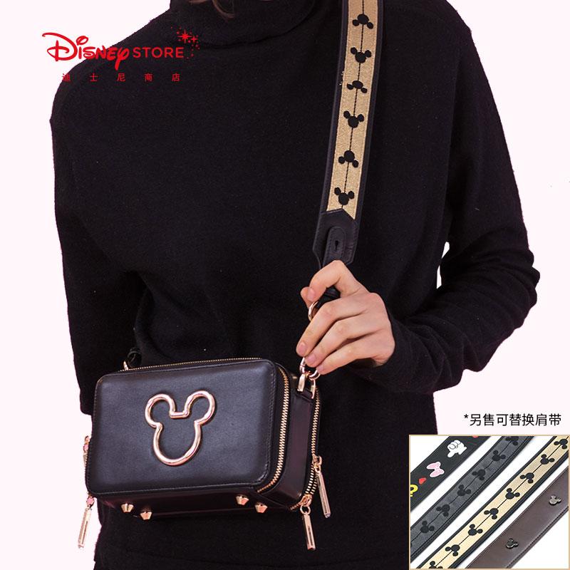 迪士尼时尚 米奇小方单肩包可换短肩带斜挎包小方包 2018新款