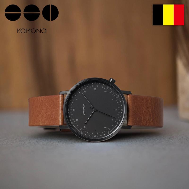 KOMONO比利时网红手表潮流时尚腕表防水石英男表简约dw皮带手表