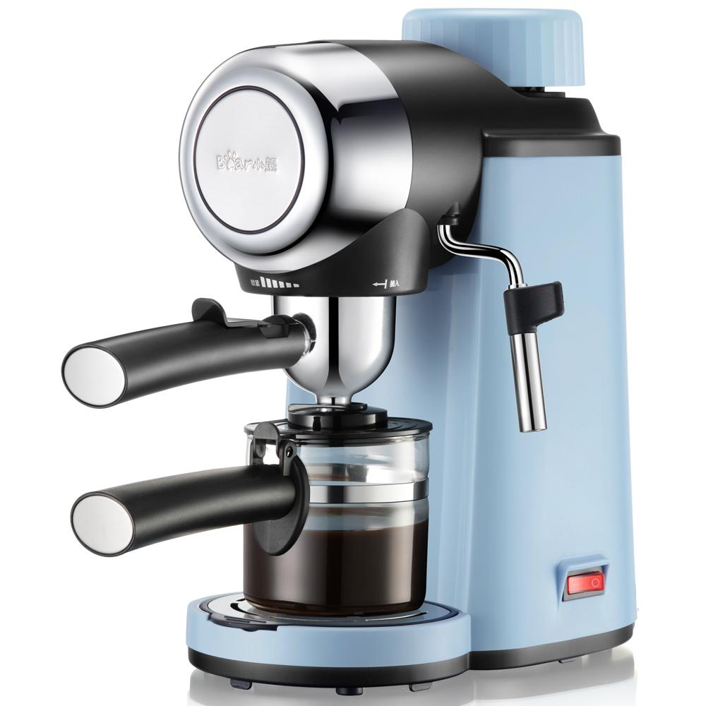 ?Bear-小熊KFJ-A02N1迷你蒸汽式小型意式咖啡机家用全自动滴漏式