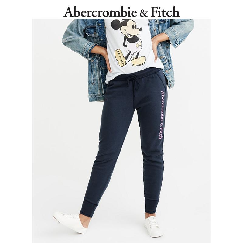 季末特惠Abercrombie&Fitch女装 Logo 款慢跑休闲裤 205042 AF