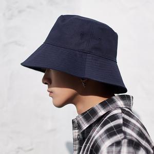 大帽檐男士渔夫帽潮牌大头围帽子男夏季黑色防晒帽太阳遮阳帽遮脸
