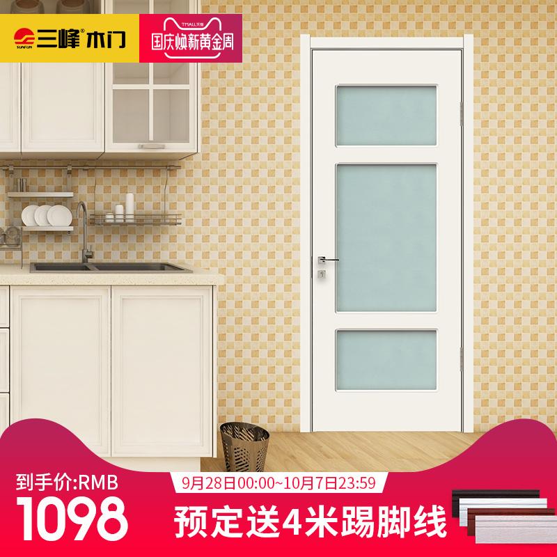 三峰木门室内门实木复合们套装门房门卫生间门浴室门厨房门F01-2