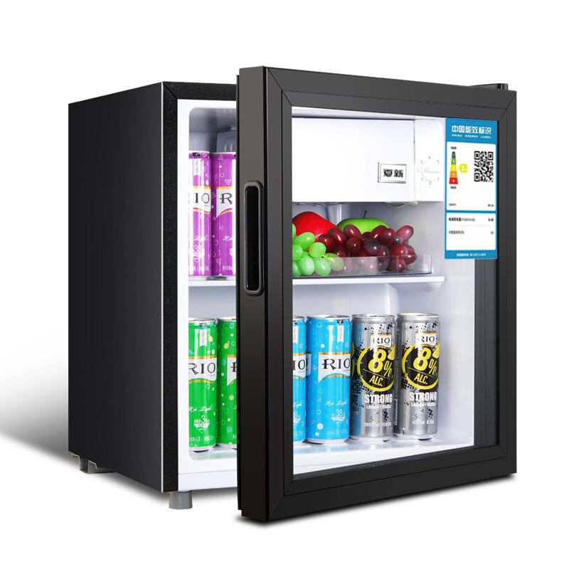 Amoi夏新小型电冰箱家用玻璃酒柜宿舍压缩机迷你制冷藏器单门式