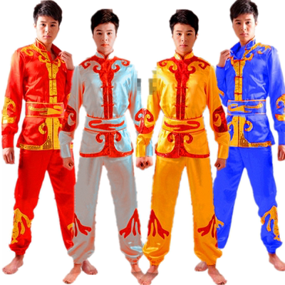 Chinese Male Yangko Costume Chinese Folk Costume Waist Drum Dance Costume Lion Dance Clothing Male Dragon Dance Clothes