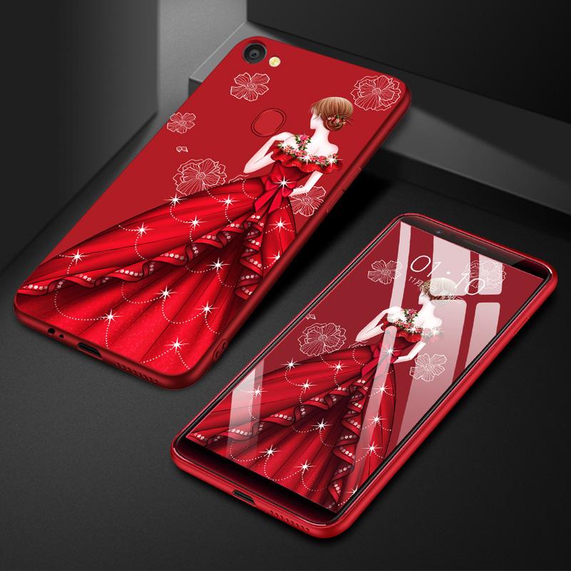 oppor手机软壳硅胶防摔中国红