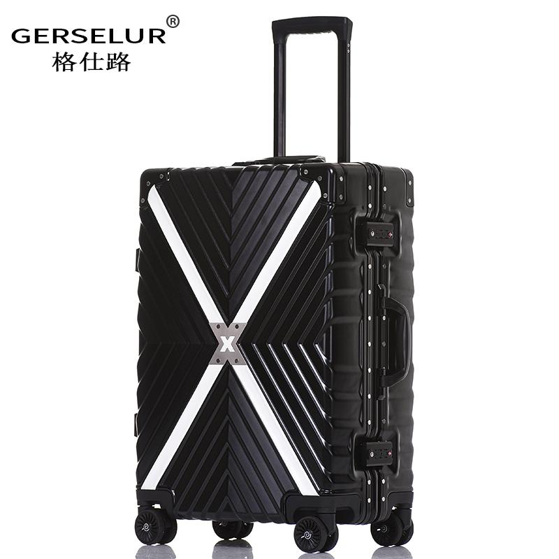 行李箱拉杆箱万向轮女20直角24寸男26学生复古皮箱子28密码旅行箱
