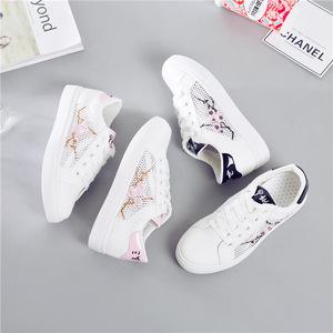 透气小白鞋女韩版夏季2018新款女鞋学生平底鞋子板鞋百搭网面网鞋
