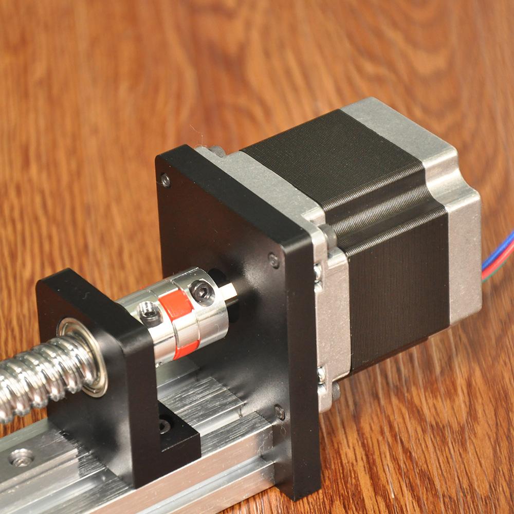 FUYU滚珠丝杆滑台精密步进十字电机移动数控直线导轨线性滑台模组