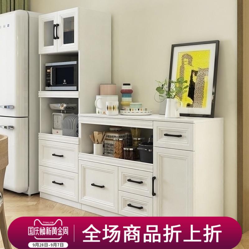 欧式餐边柜现代简约餐厅储物碗柜微波炉柜橱柜边柜厨房置物柜定制