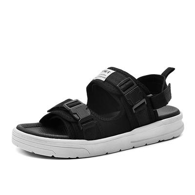 ស្បែកជើងបុរស Men Leather Sandals Closed Outdoor Sandal Slides Walking Running Sports PQ0011