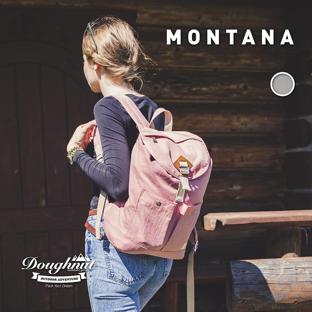 Doughnut Montana甜甜圈旅行轻便防水背包男女书包户外休闲双肩包