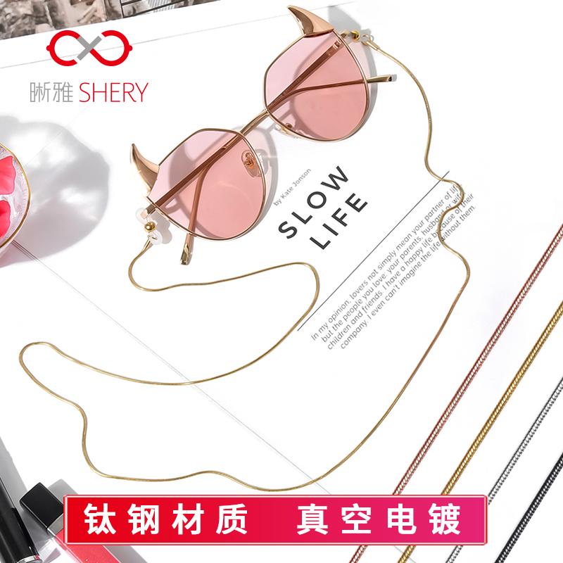 眼镜链条挂脖绳子防滑复古韩国简约时尚眼睛带墨镜链