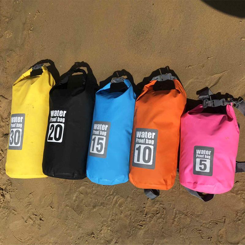 户外防水袋漂流溯溪浮潜防水包双肩游泳旅行收纳袋沙滩海边背包