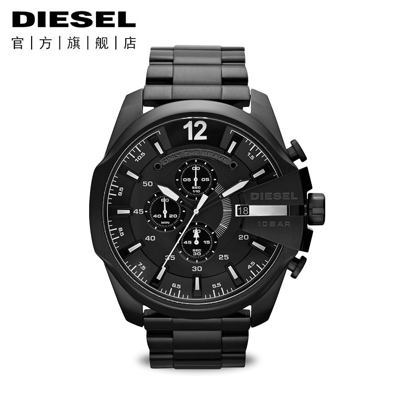 Diesel-迪赛男精钢金属表带男士手表欧美时尚款石英腕表DZ4283
