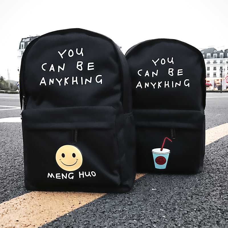 2017 new Korean backpack canvas backpack junior high school college students youth fashion trend bag men