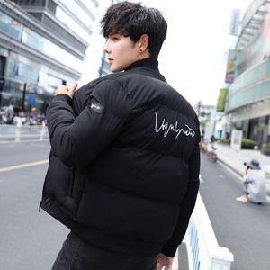 外套男冬季加厚棉衣青年学生韩版棒球领外套帅气百搭超厚棉袄潮男