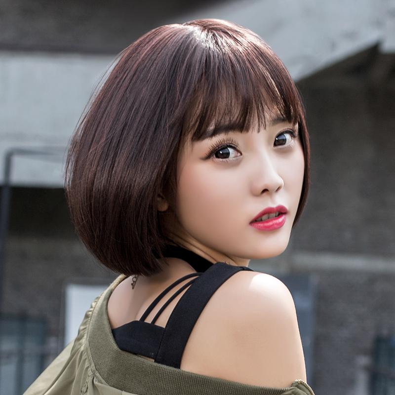 假发女短发bobo波波头假发套韩国空气刘海中长直发自然逼真短卷发