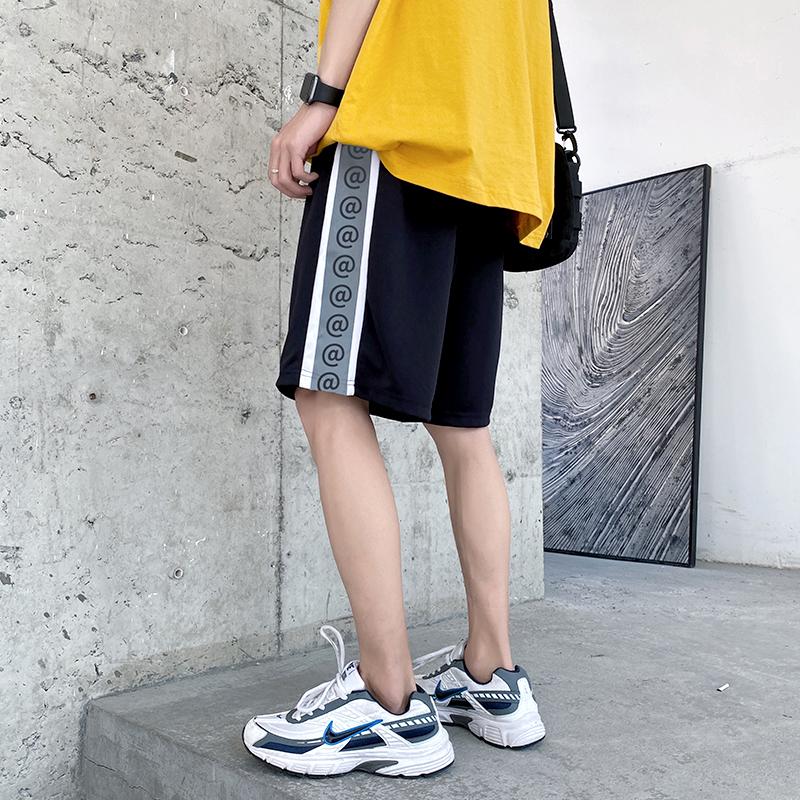 运动裤男生潮牌ins休闲短裤卫裤宽松夏季五分裤网红裤子韩版潮流