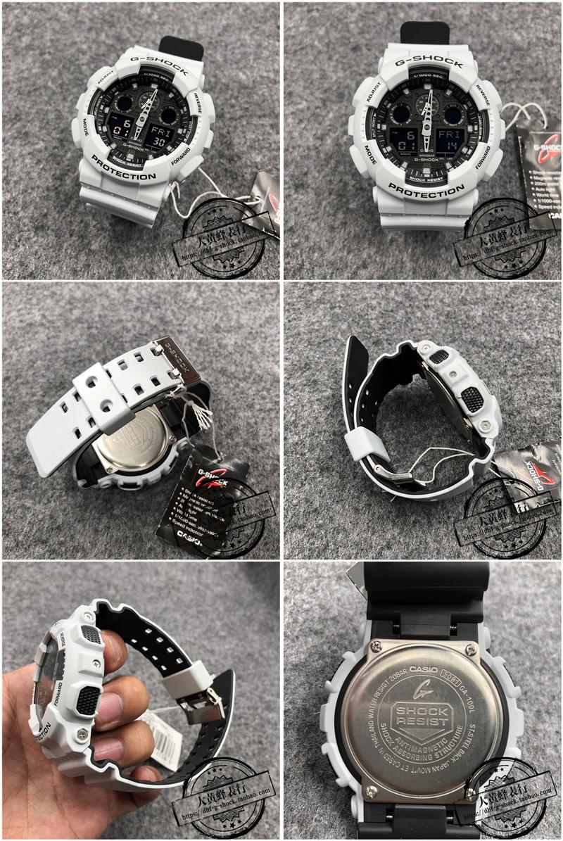 Casio G Shock Ga 100 100l 1 2 4 7a 100by Two Color Strap 1a