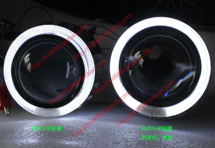 长城皮卡风骏5 改装双光透镜疝气灯天使恶魔眼大灯总成 高亮款高清图片