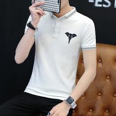 夏季,bet356 手机游戏_bet356娱乐场官网7714_bet356在线投注,男士,印花,Polo衫,短袖,潮流,时尚,T恤,白色