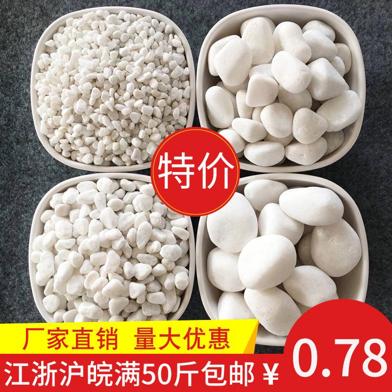 白色石子石头大鹅卵石日式庭院铺路铺地小白石头园林枯山水白石子