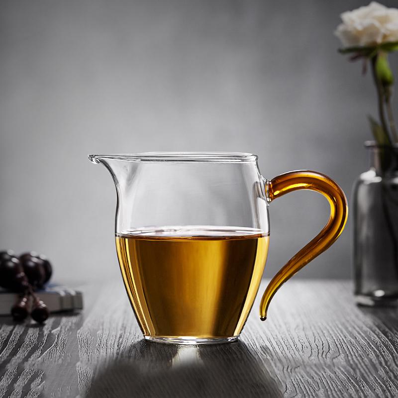 玻璃公道杯茶漏套装大号加厚耐热高温琉璃茶海分茶器功夫茶具配件