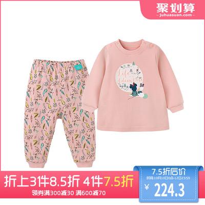 英氏婴儿内衣套装 女宝宝春秋纯棉内衣套装 迪士尼系列 181A0332