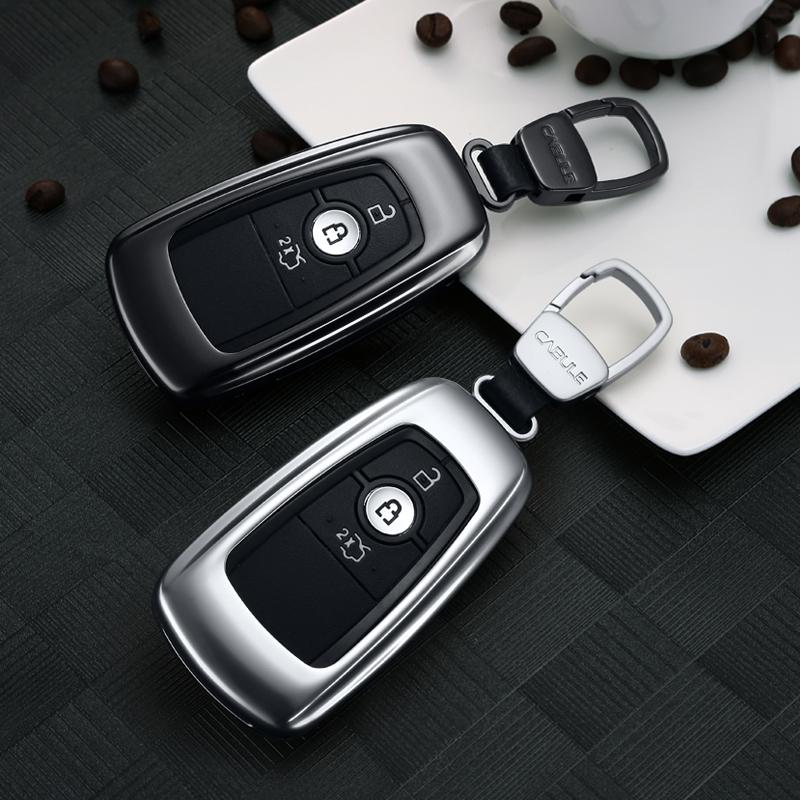 专用于福特锐界钥匙包新蒙迪欧翼虎金牛座探险者钥匙套扣壳改装饰