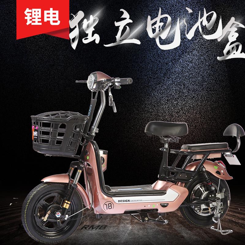 加州豹新款锂电池电瓶车成人小型电动自行车可取电池电动车女性