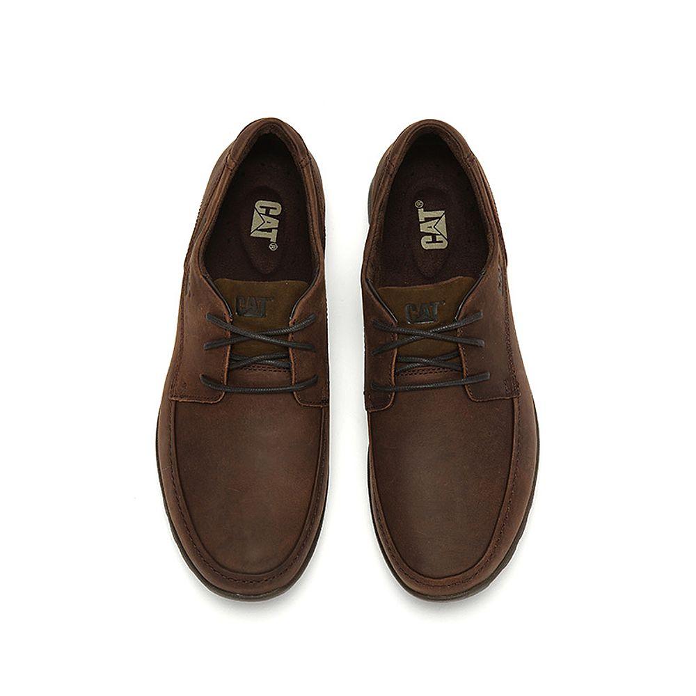 CAT/卡特户外休闲新款深棕色牛皮革男休闲鞋P719186H3UMS36