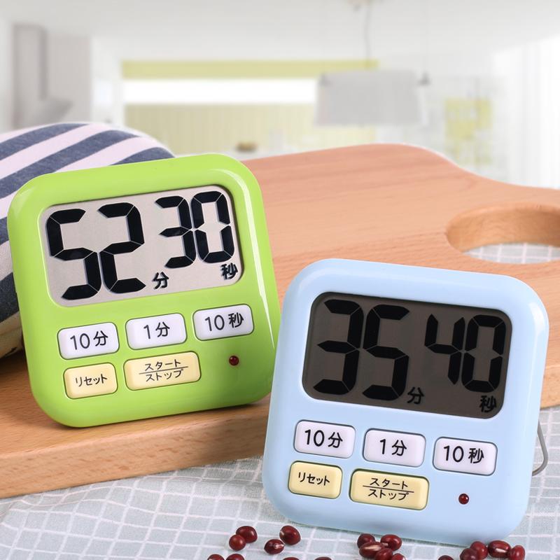 日本LEC计时器学生秒表闹钟提醒器厨房定时器电子倒计时器大声音