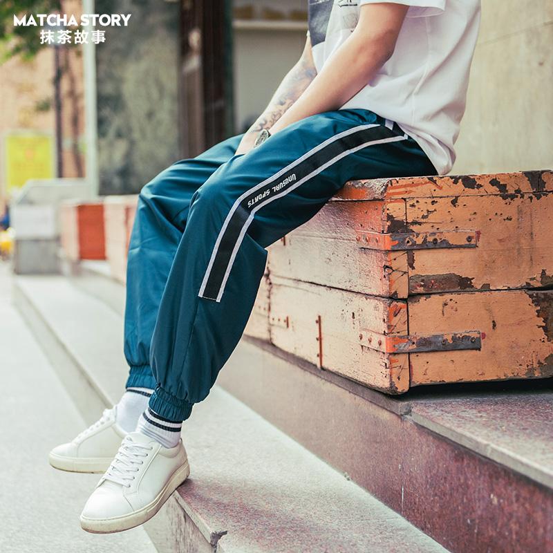 夏季休闲运动裤男宽松夏天学生韩版百搭小脚裤子薄款束脚裤长裤潮