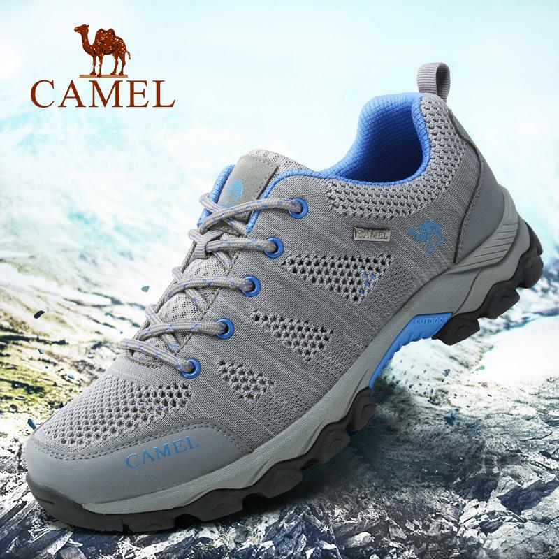 骆驼户外徒步男鞋 透气轻便登山鞋防滑耐磨 运动男鞋涉水爬山鞋子