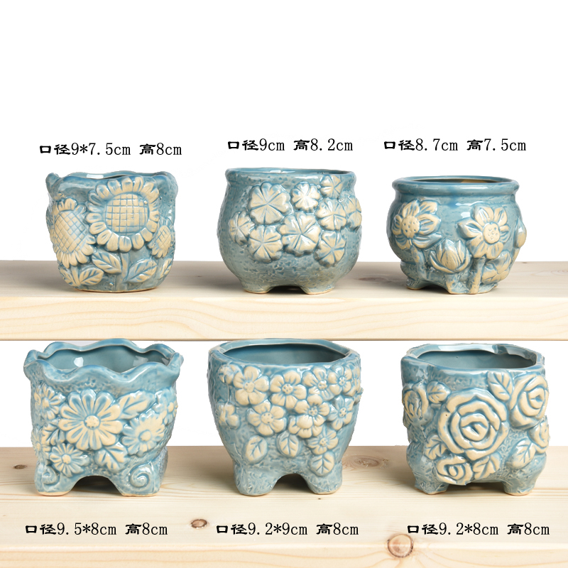 Thickening imitation ceramic plastic large rectangular flowers, potted flower pot Alice balcony of the food