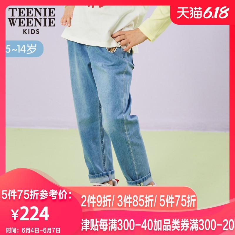 TeenieWeenie Kids小熊童装2020夏季女童牛仔裤TKTJ202351K
