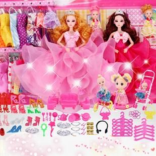 芭比娃娃洋娃娃过家家玩具大礼盒