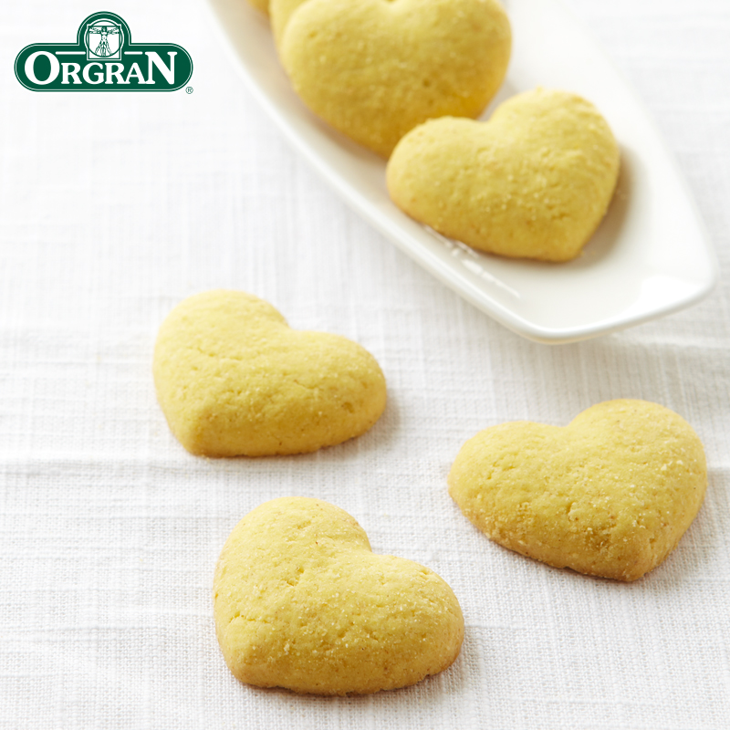 Orgran澳洲原装进口杂粮饼干休闲零食心型酥饼干孕妇粗粮150g/盒