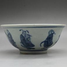 Чаша Guangxu грех бело голубой фарфор