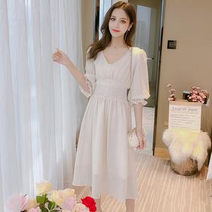 马来西亚台湾新加坡泰国越南女装服装衣服批发短袖雪纺连衣裙