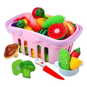 过家家厨房水果蔬菜切切乐切水果儿童玩具套装塑料仿真食物男女孩