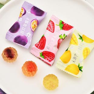 阿q熊爆浆果汁软糖 混合水果味夹心QQ糖果网红零食结婚喜糖混散装