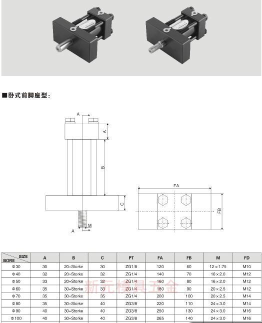 缸径50 油缸/模具油缸 液压油缸 非标油缸 耐高温油缸图片