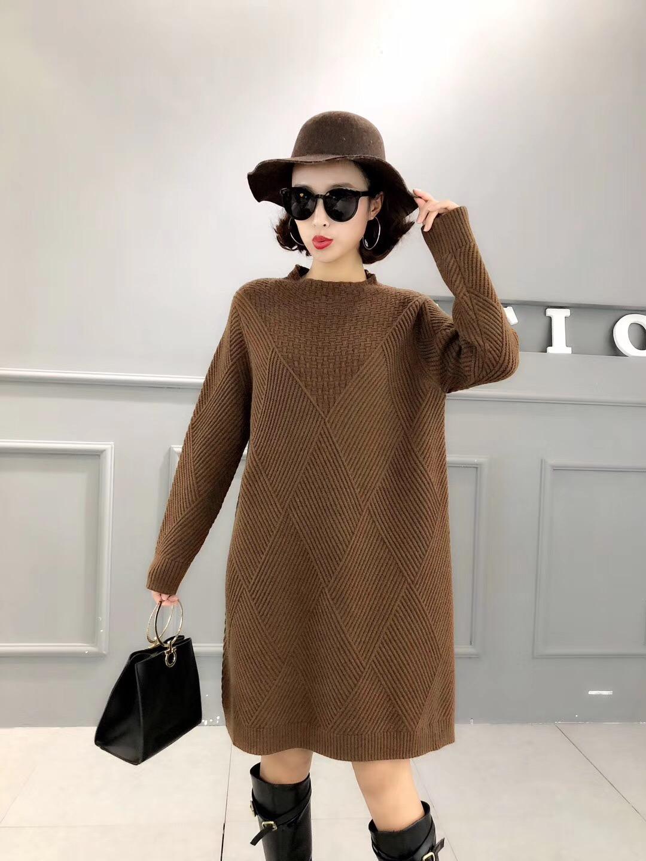 秋装女 设计感裙子显瘦少女黑气质女均码黑色针织连衣裙2018新款