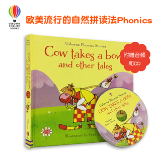 #Usborne旗舰店 phonics readers 自然拼读 Cow Takes A Bow And Other Tales 尤斯伯恩英文原版绘本儿童故事书幼儿英语启蒙送音频